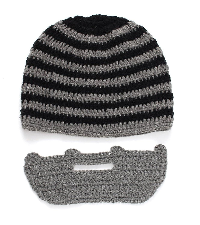 Bigood Besonder Damen Herren Gestickt Mütze mit Mundschutz Mütze Ski Masken Mütze