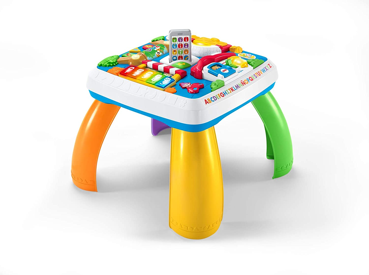 Fisher-Price puppy love Mesa multiaprendizaje bilingüe, juguetes educativos, multicolor (Mattel DRH34)