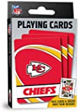 "MasterPieces NFL Kansas City Chiefs Playing Cards,Red,4"" X 0.75"" X 2.625"""