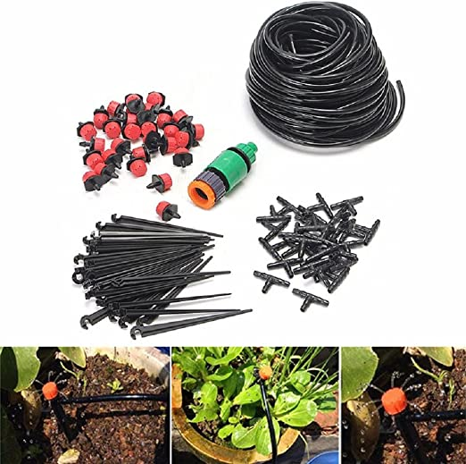 Kit Micro Riego 25m de Manguera, GZQES, Sistema de Riego, Timer Automático Planta de Riego, Jardín DIY Herramienta: Amazon.es: Jardín