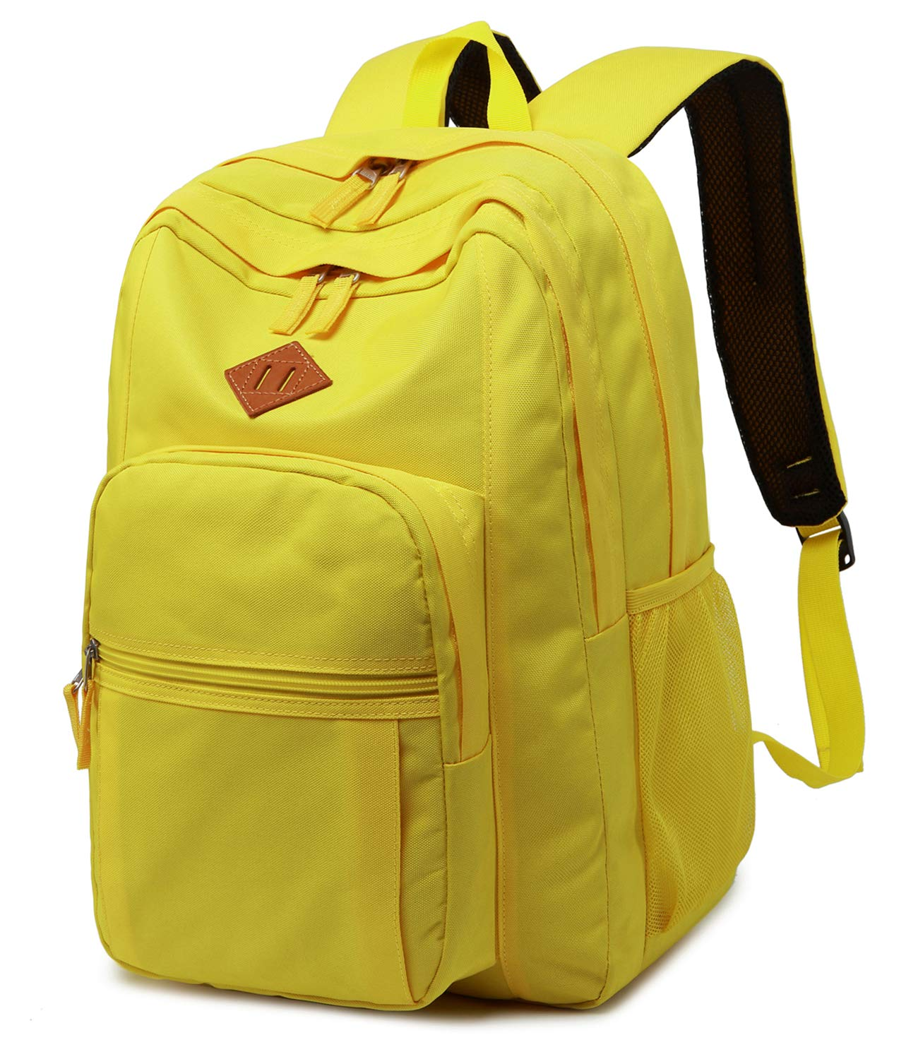 Abshoo Classical Basic Womens Travel Backpack For College Men Water Resistant Bookbag (Yellow) by abshoo