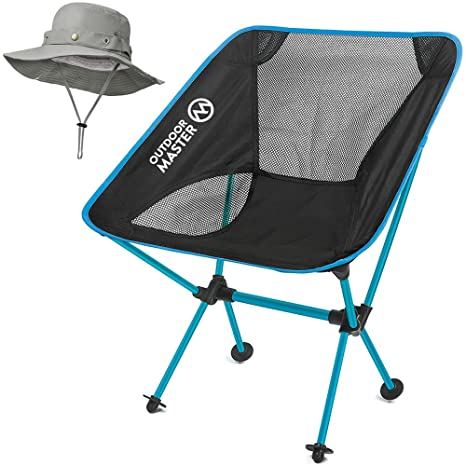 OutdoorMaster Folding Camping Chair   Portable U0026 Compact Foldable Chair  With Included FREE Bonnie Sun Hat