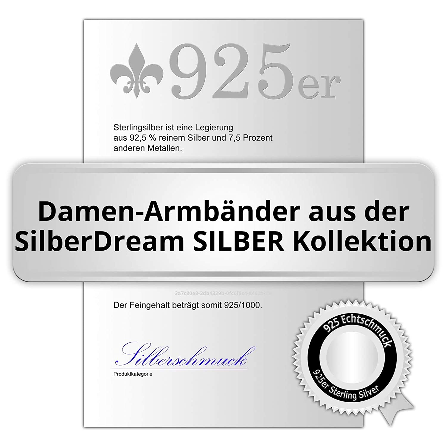 Double Ancre SilberDream Bracelet pour Charms 19cm Argent sterling 925 FC0502