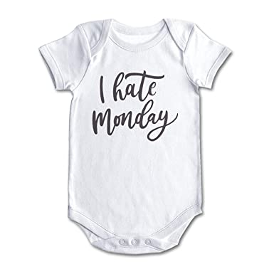 Amazon Fxxxone7 I Hate Monday Cute Baby Onesie Baby Shower