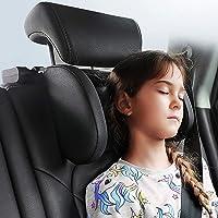 JZCreater Car Seat Headrest Pillow, Head Neck Support Pillow, Carbon Fiber Plaid Roadpal Car Headrest Pillow, 180 Degree…