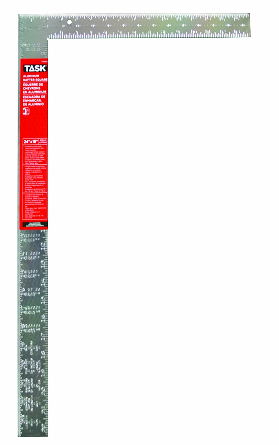 Task Tools T58222 24 Inch Aluminum Utility Square Embossed Markings