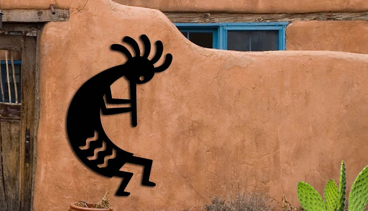 Kokopelli - Southwest Design - Home & Garden - Medium (10 1/2 w x 16 h) Metal Art - Indoor - Outdoor Hand Made USA