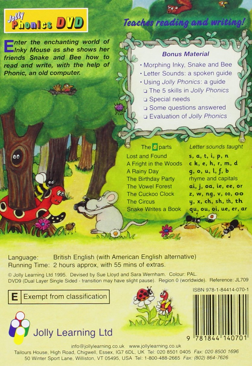 Workbooks jolly phonics workbook 1 free download : Jolly Phonics DVD: in Precursive Letters (BE): Amazon.co.uk: Sue ...