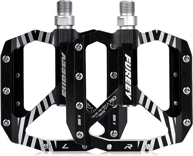 Road Mountain Bike Platform Pedals Wide Flat MTB Aluminum Sealed Bearing CNY