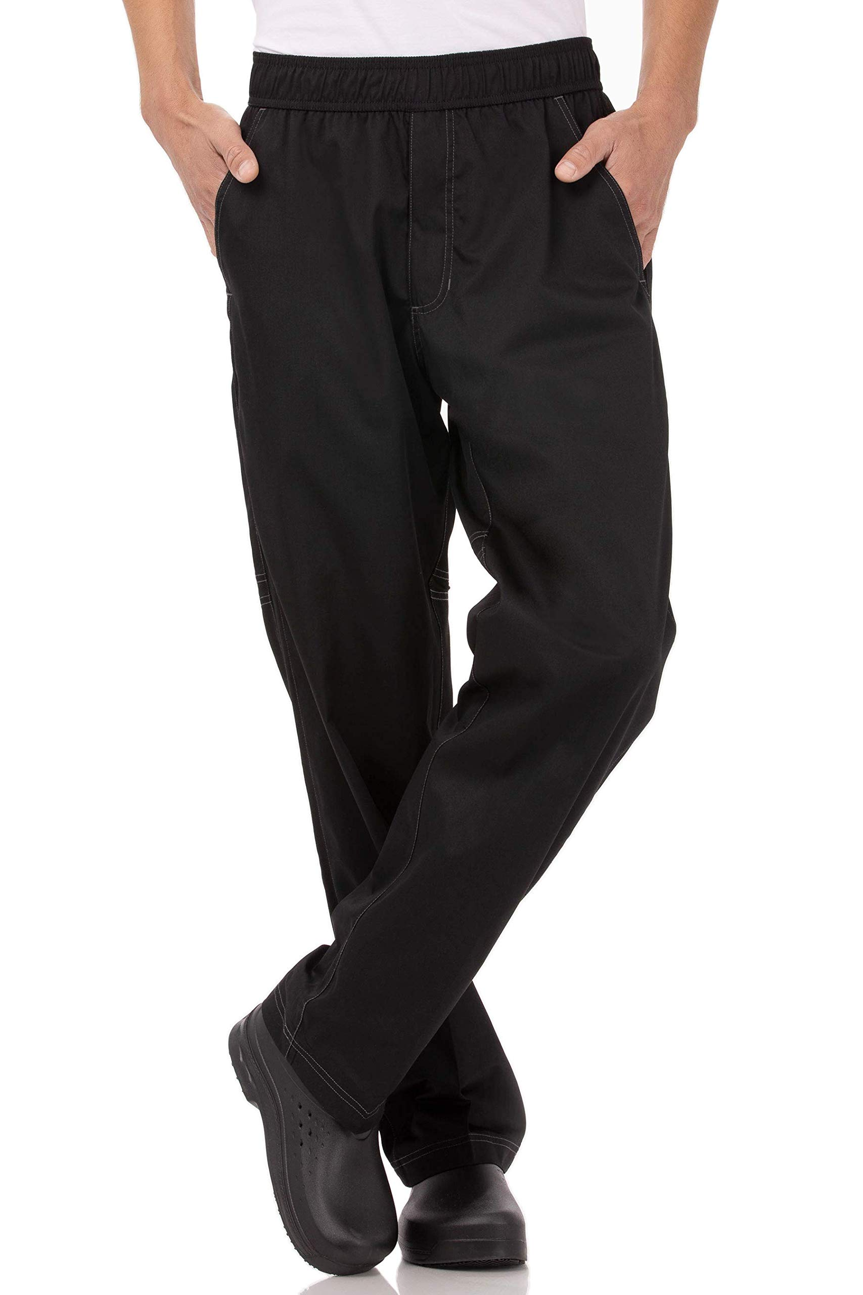 Chef Works Men's Cool Vent Baggy Chef Pants, Black, Medium by Chef Works