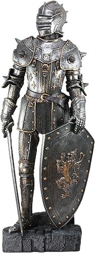 Ebros Large 28.75 H Medieval Suit of Armor Warrior Knight Swordsman Statue Home Decor Figurine