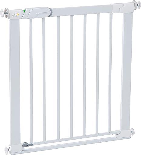 Safety 1st Flat Step Barrera escalera para bebés, niños y perros, Puerta de seguridad con Barra inferior muy delgada reduce el riesgo de tropiezos, color blanco: Amazon.es: Bebé
