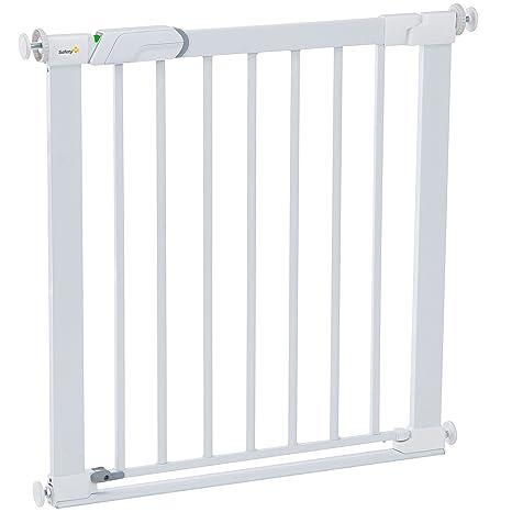 Safety 1st Flat Step Treppenschutzgitter, ultraflache Bodenverstrebung, keine Stolpergefahr mehr, 73-80 cm, weiß
