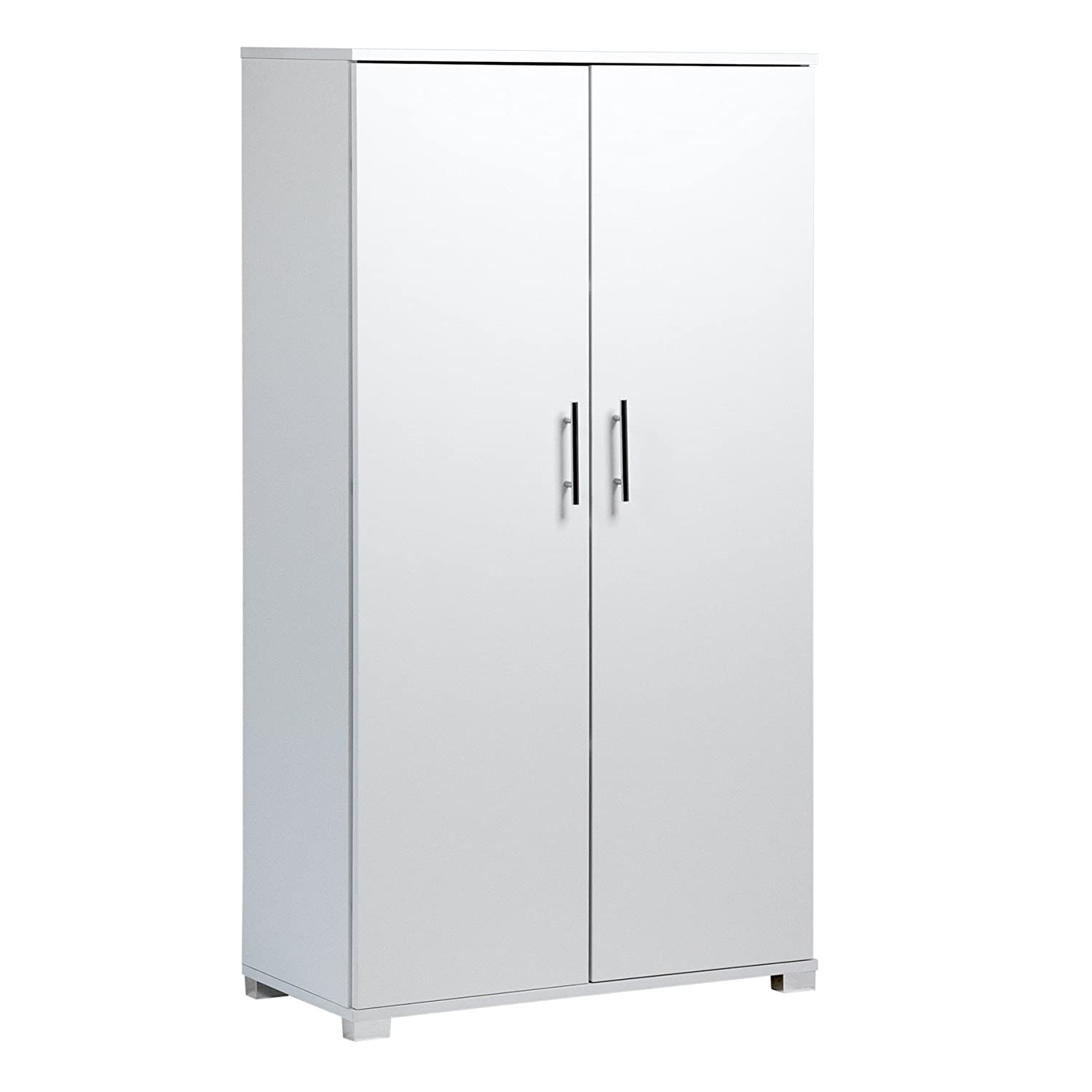 White Office Cupboard Filing Storage Stationary Cabinet - Office Furniture, 4 Storage Shelves - 2 Door Cabinet - 800mm Wide - Massive Storage Capacity - 40 x A4 Box File Capacity MMT
