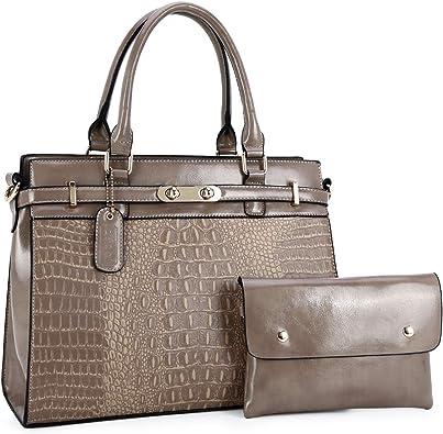 Womens Leather Top Handle Shoulder Handbag Cute Owl Large Work Tote Bag