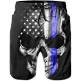 18d3ae3058ae7 UNIQUE Pants American Thin Blue Line Flag Day Men's Quick Dry Beach Board  Shorts Summer Swim
