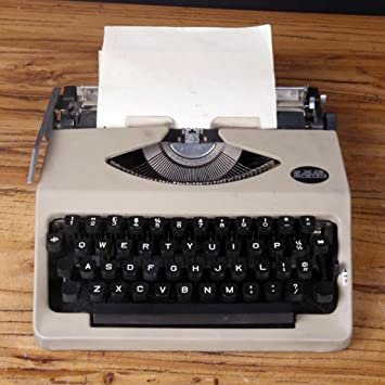 Máquina de escribir Typewriter, 80 s Retro Antique Vintage English Typewriter Normal Use Portable