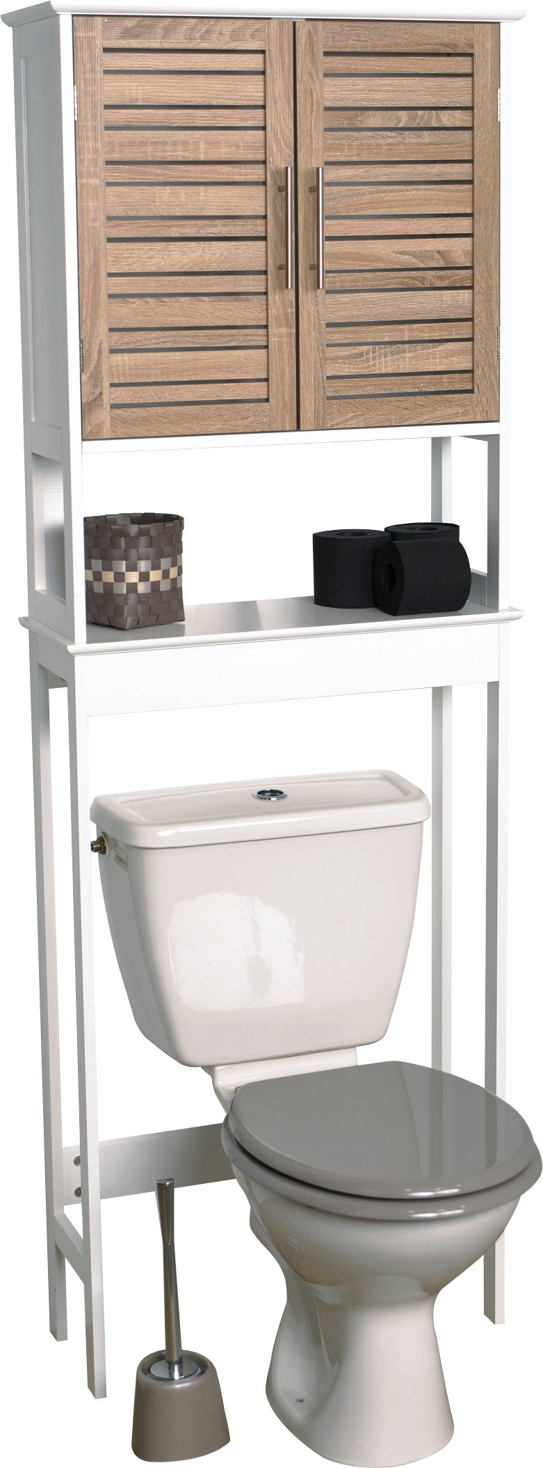 EVIDECO Stockholm 24.8'' x 70.5'' Free Standing Over the Toilet