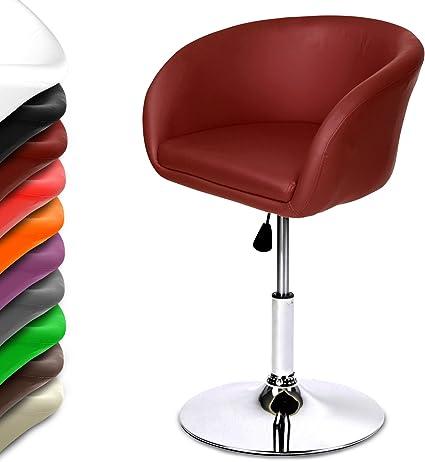 Miadomodo Swivel Bar Stool Adjustable Seat Height 65 80 Cm Modern Comfortable Chair Set Of 1 Burgundy Amazon Co Uk Kitchen Home