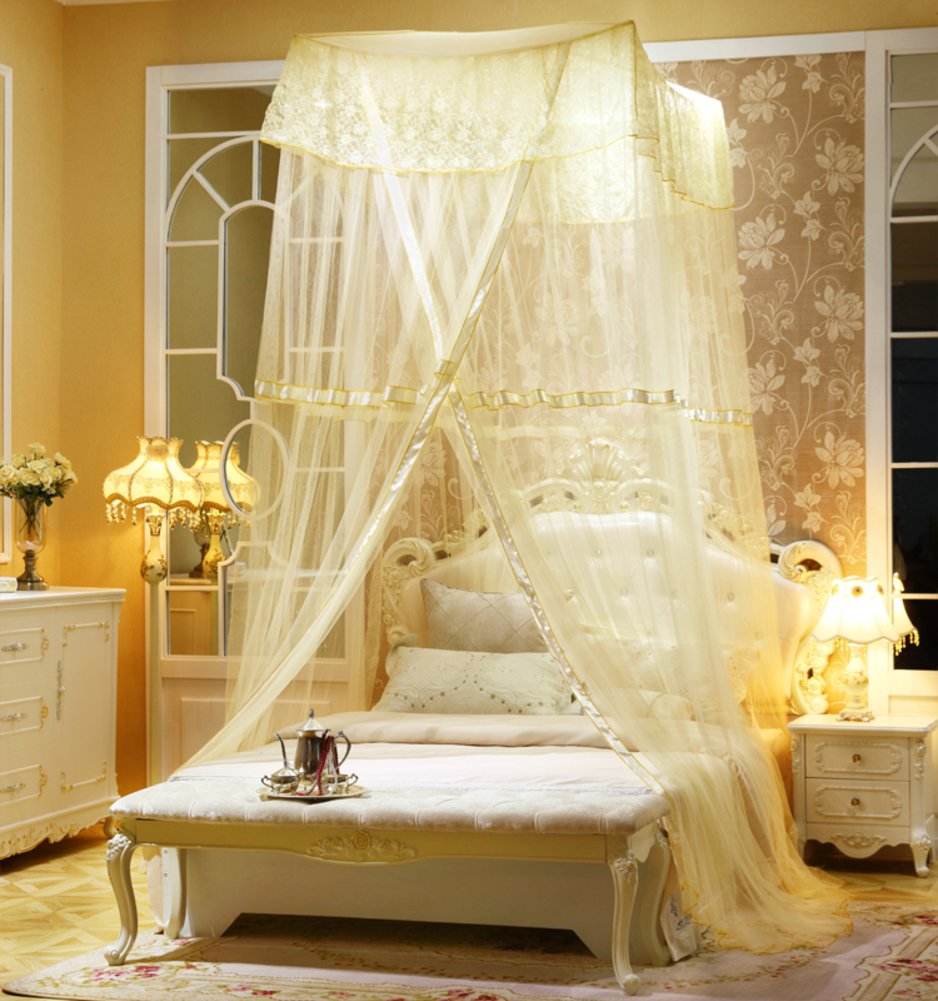 Fine,Princess Wind Dome Ceiling Mosquito Nets/Simple,Fashion Double Home,Ceiling Mosquito Net/European Court To Increase The Mosquito Bed-C C by fdgg