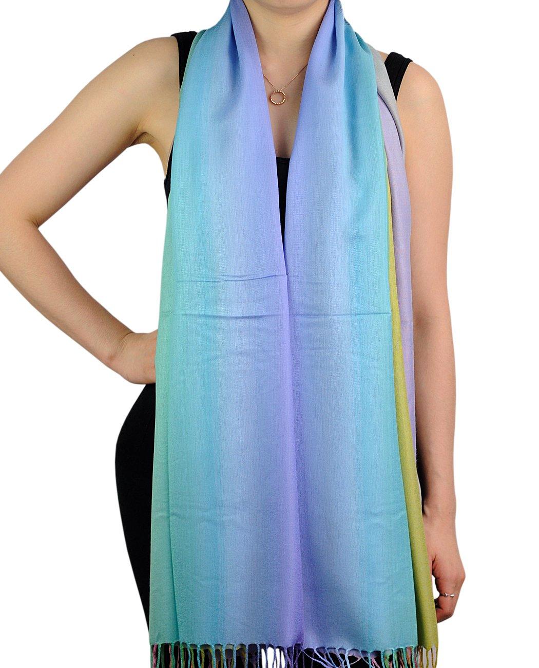NYFASHION101 Elegant Tropical Colorful Scarf Shawl Wrap NBH1701Y, Rainbow 07 BH1701-07