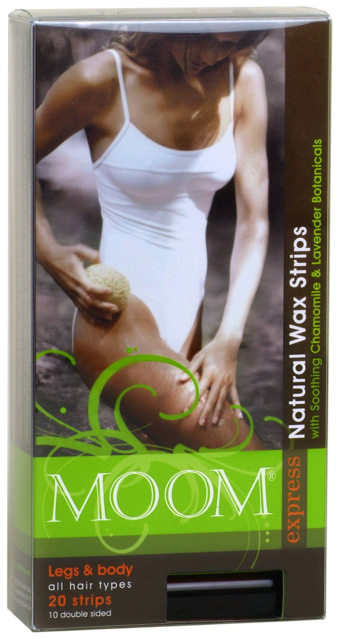 Moom Express Pre Waxed Strips For Legs & Body, 20 Strips Packages