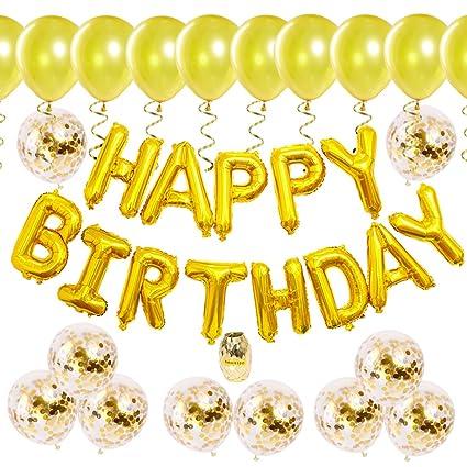 Kreatwow Decoraciones de Oro para niños Fiesta de cumpleaños ...