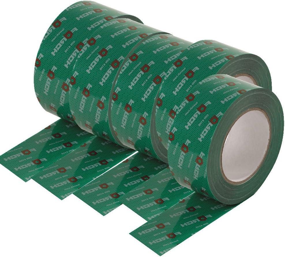 25 lfm, para barreras de vapor, para sistemas, OSB color verde F/örch Cinta adhesiva