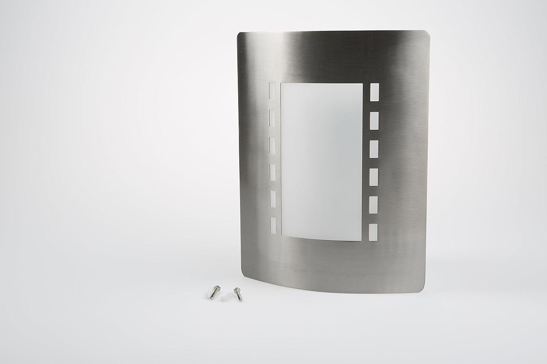 Conector E27 IP44 Luz exterior Acero inoxidable Smartwares RX1021 Messina Luz de pared