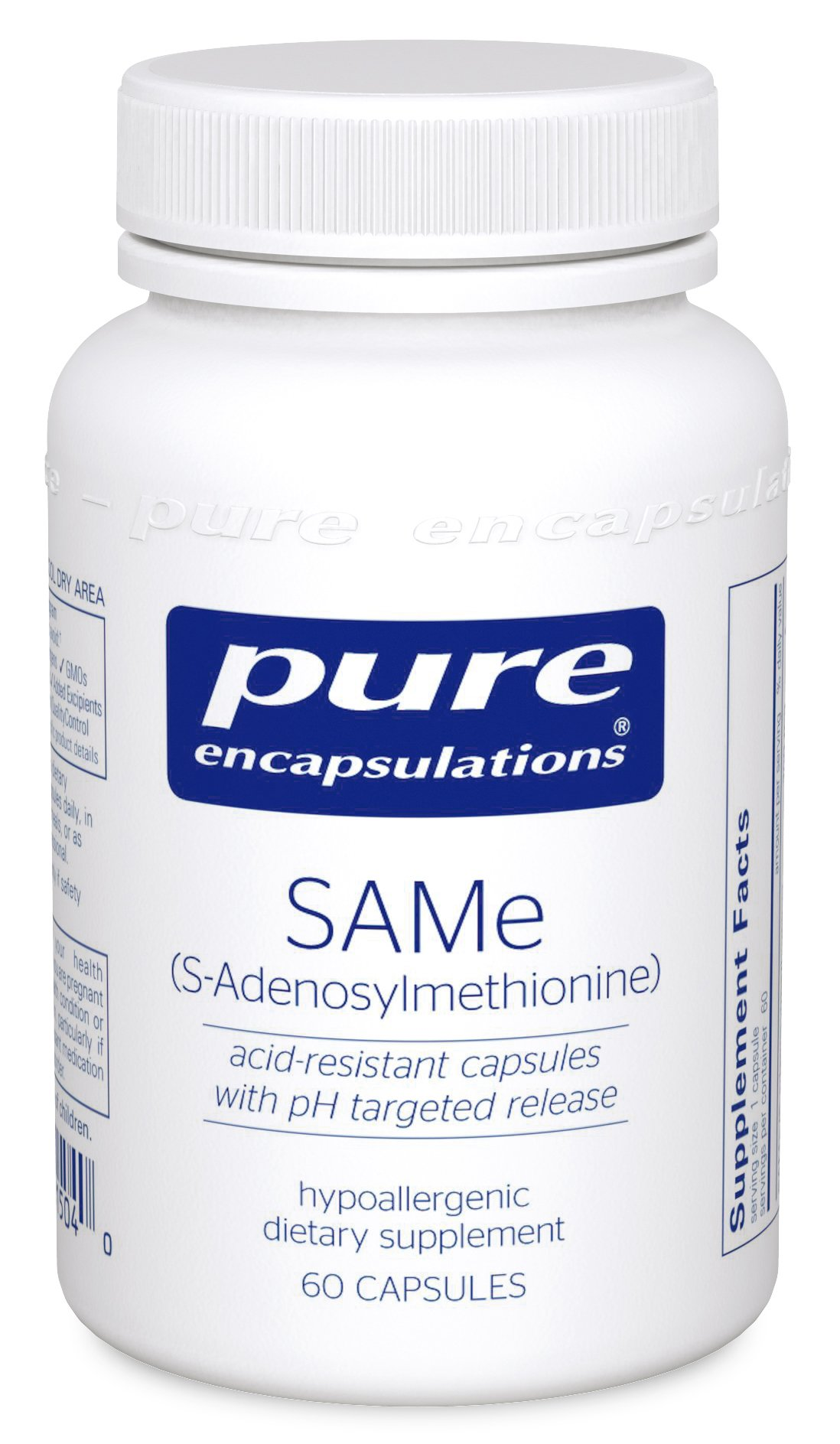 Pure Encapsulations - SAMe (S-Adenosylmethionine) - Hypoallergenic Supplement to Support Positive Mood and Cognitive Function* - 60 Capsules
