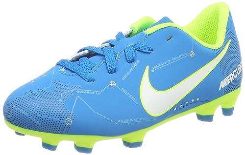 fb45fd3a858 Nike Junior Mercurial Vortex III NJR FG Cleats - (Blue Orbit White ...