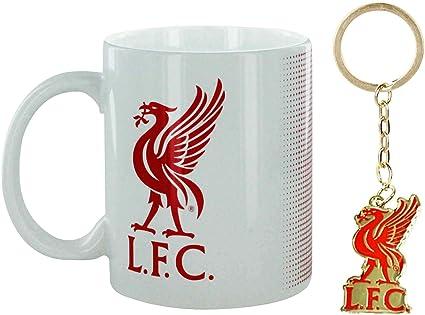 L F C Offizielles Liverpool Fußball Wappen Tasse Und Schlüsselanhänger Aus Keramik 325 Ml Sport Freizeit