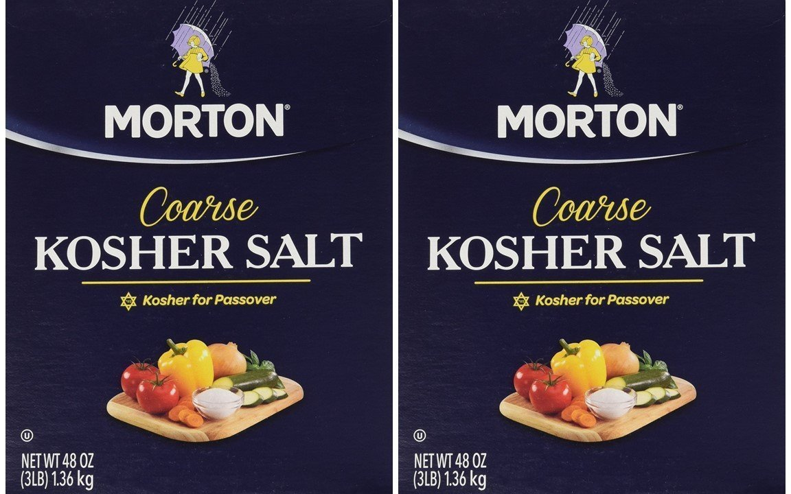 Morton Salt Kosher Salt, 3 lbs, Pack of 2 : Grocery & Gourmet Food