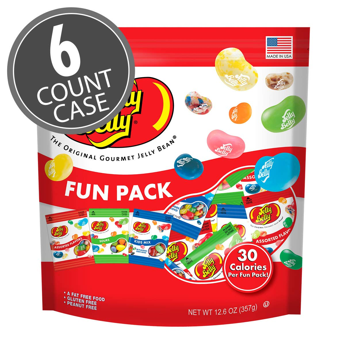 Jelly Belly Jelly Beans Assorted, Sours and Kids Mix Fun Pack, 12.6-oz, 6 Pack by Jelly Belly