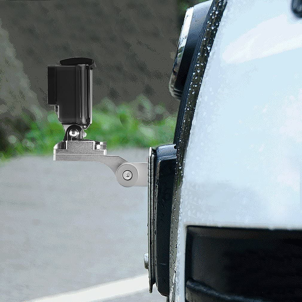 1 XIAOMI YI 2 4K SJ4000 SJ5000 SJ6000 2 Session 3 3+ First2savvv GO-MTC-15 Aluminum Motorcycle Mirror//Pinchbolt Mount for GoPro hero 4 Hero+ LCD
