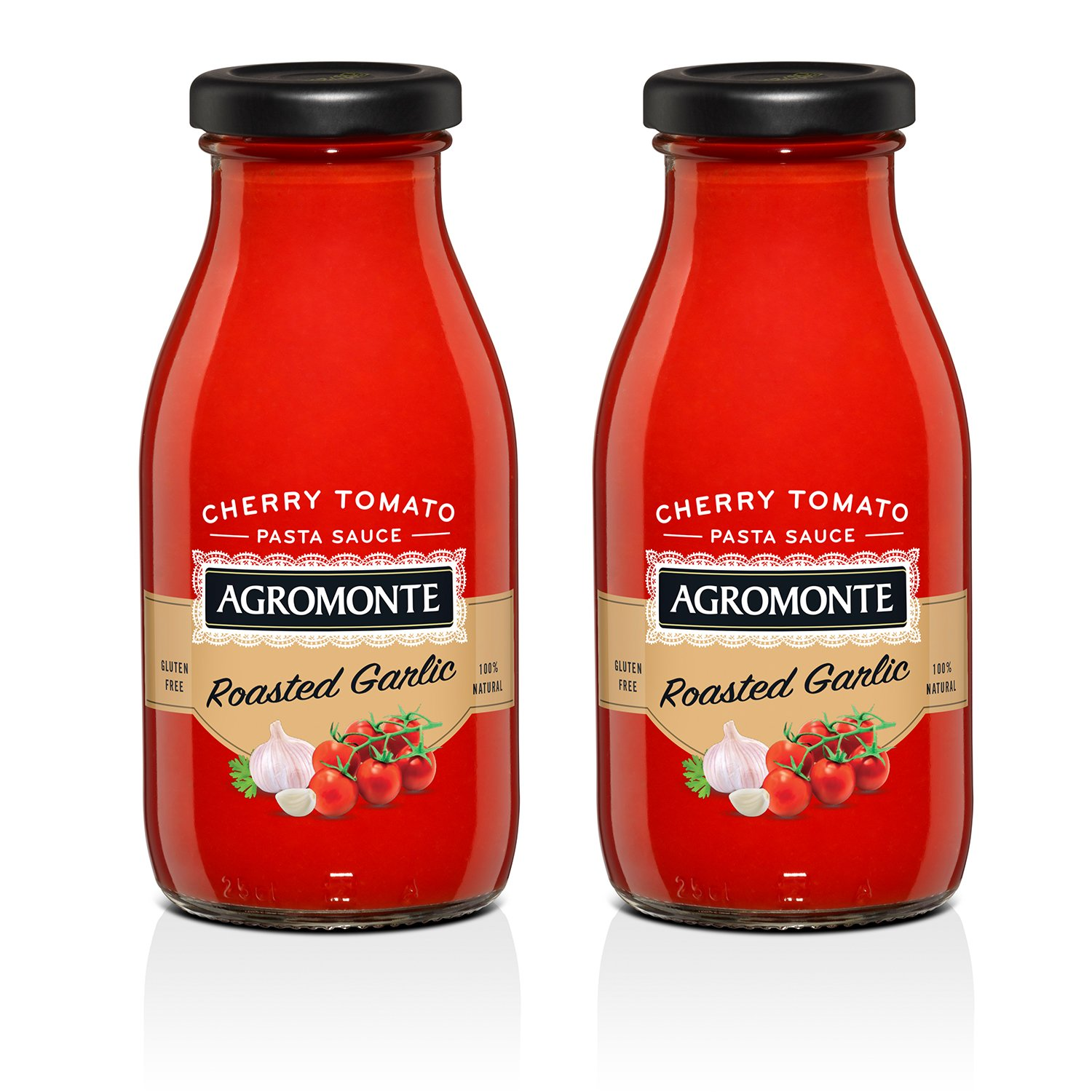 Agromonte Authentic Italian Cherry Tomato Sauce (Roasted Garlic, 2 Pack) by Agromonte