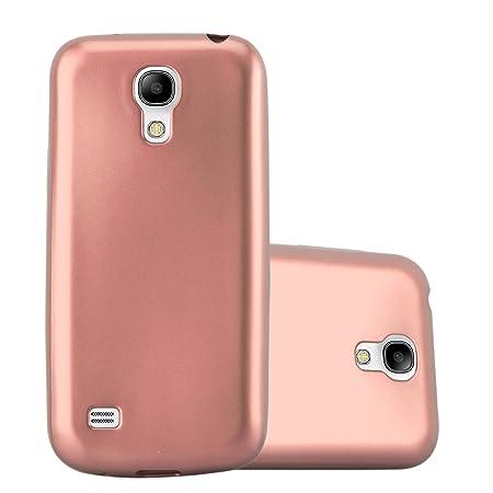 Cadorabo Hülle für Samsung Galaxy S4 Mini - Hülle in METALLIC Rose Gold – Handyhülle aus TPU Silikon im Matt Metallic Design