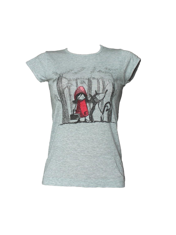 SENSI T-Shirt Donna Manica Corta Stampa Cappuccetto Morbido Micromodal Traspirante Senza Cuciture Seamless Made in Italy