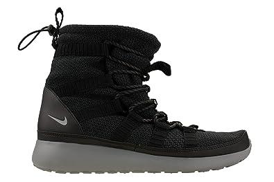 amazon com nike womens roshe one hi sneakerboot black cool grey