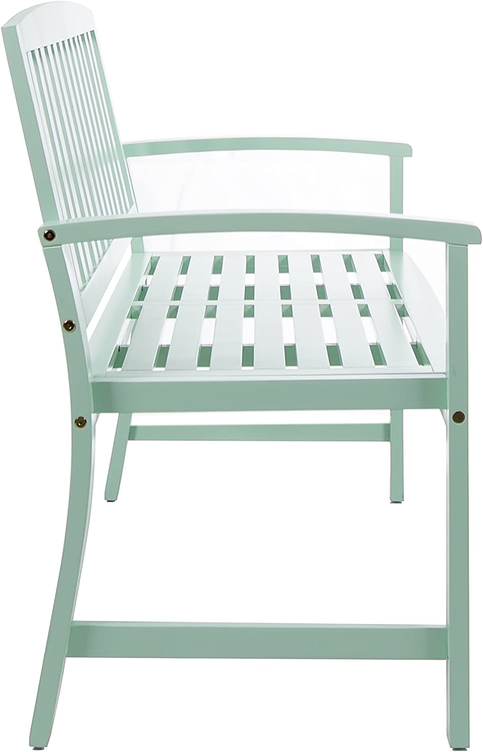Lola Outdoor Light Mint Finished Acacia Wood Bench