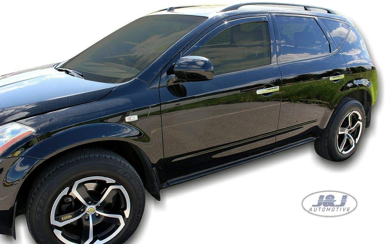 J/&J AUTOMOTIVE Windabweiser Regenabweiser f/ür Nissan Murano 5-t/ürer 2002-2008 2tlg HEKO dunkel