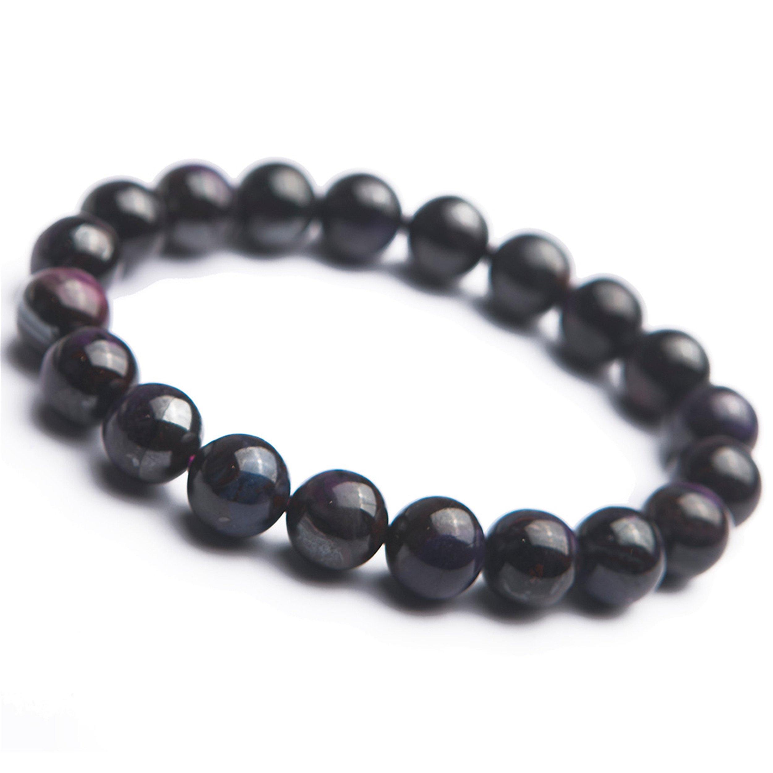 10mm Purple Sugilite Gemstone Crystal Round Bead Stretch Natural Stone Bracelet