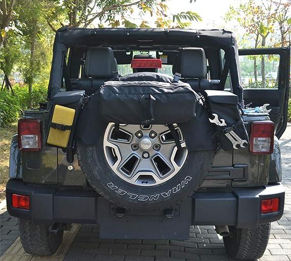 JOYTUTUS Jeep Wrangler - Bolsa de Almacenamiento para neumáticos de Repuesto para JK YJTJ® FJ1976-2018: Amazon.es: Coche y moto