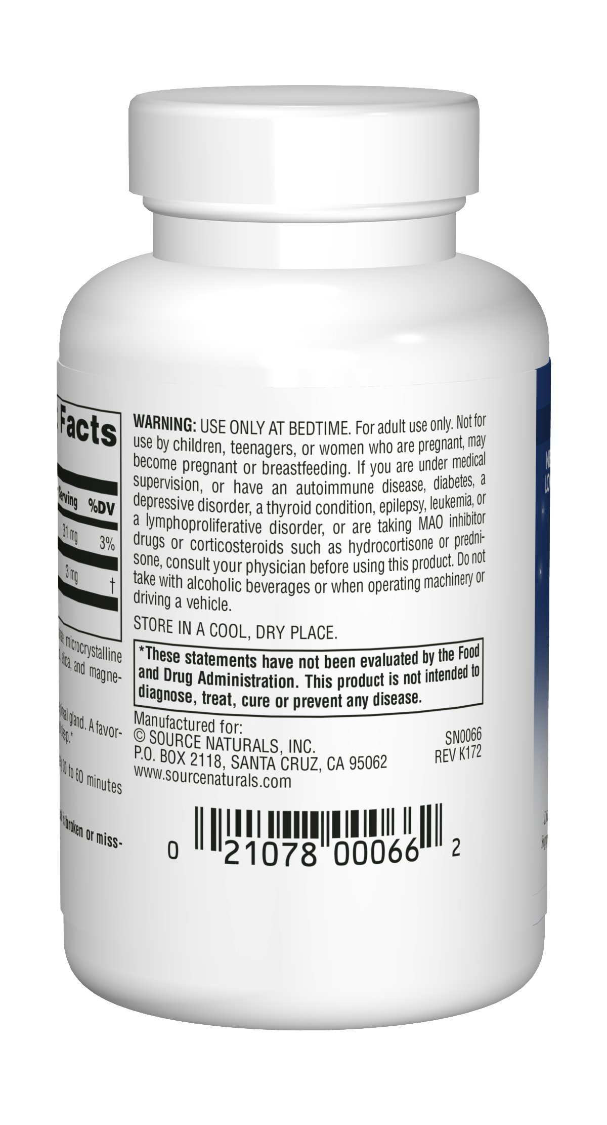 Source Naturals Melatonin 3mg - Sustained Release - 120 Tablets by Source Naturals (Image #2)