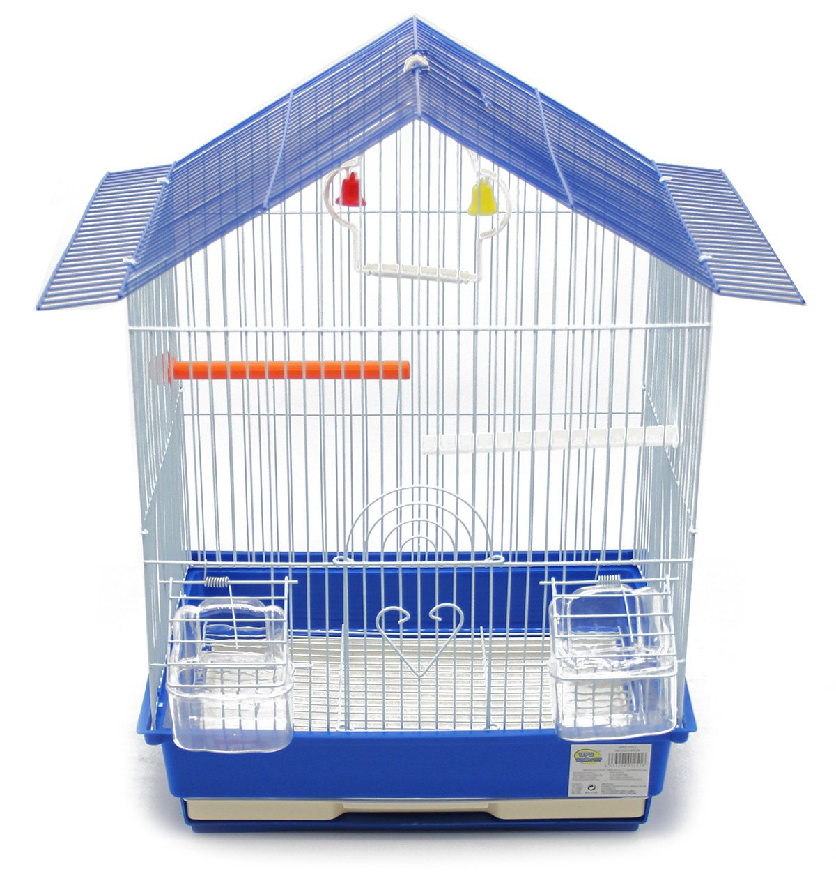 BPS Cage Bird Cage Metal avec Feeder Drinker Swing Jumper Color Bucket Envoyer au Hasard 46 x 28 x 34.5 cm BPS-1251 BPS(R)