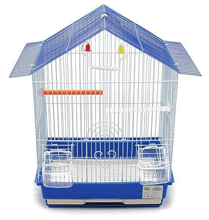 BPS Jaula Pájaros Metal con Comedero Bebedero Columpio Saltador Cubeta Color envia al Azar 46 x