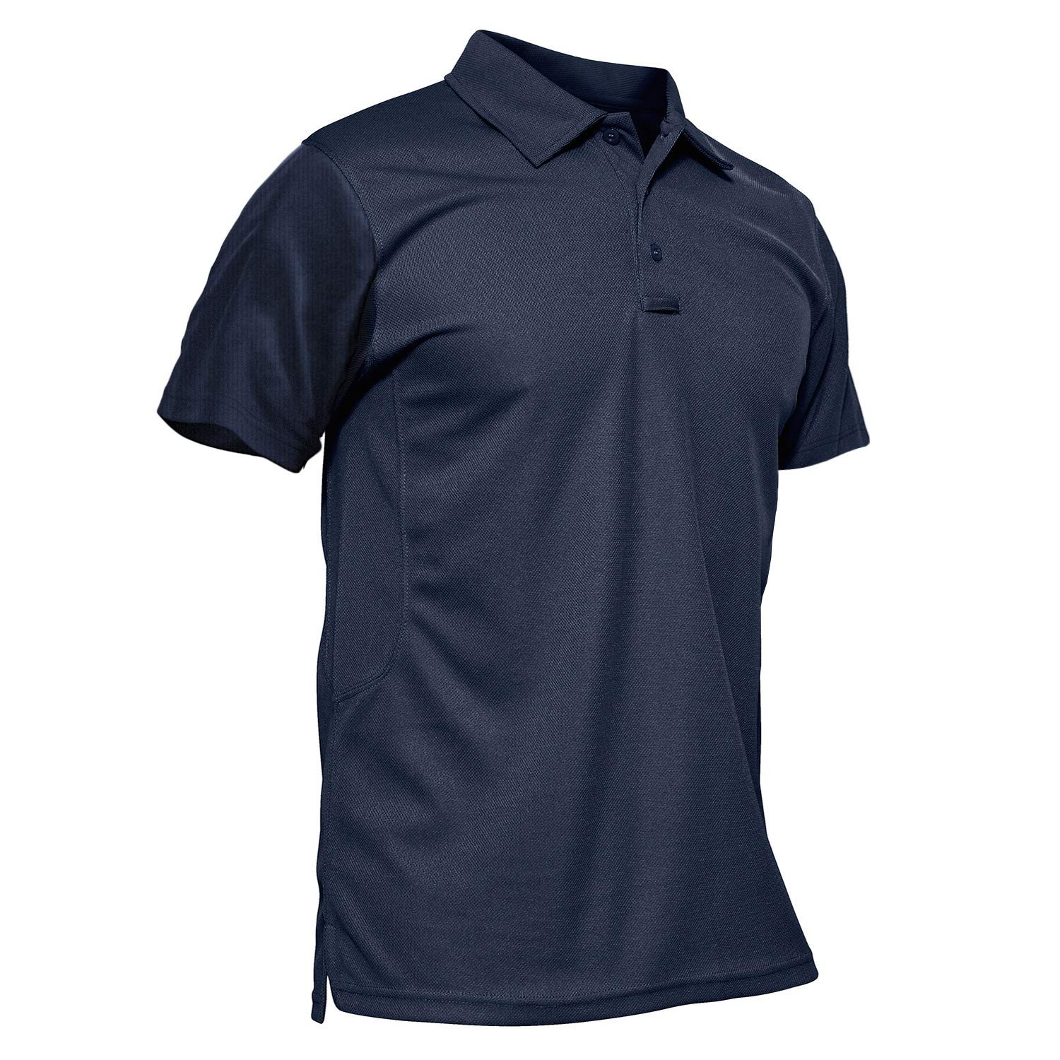 MAGCOMSEN Military Polo Shirts for Men Short-Sleeve Work Polo Performance Quick Dry Jersey Polo Shirt by MAGCOMSEN
