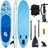 "Goplus 10' Inflatable Stand Up Paddle Board Cruiser 6"" Thickness iSUP Package w/3 Fins Thuster, Adjustable Paddle, Pump Kit and Carry Backpack"