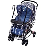 Universal Stroller Raincover, Upgraded Rainproof Dustproof Windproof Pushchair Stroller Buggy Pram Large Throw Over Rain Cover with Canopy and Zipper Door Universal for Hundrends of Carrycots and Traditional Prams
