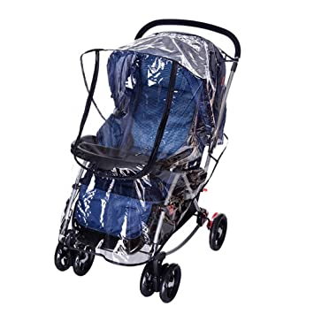 Universal Pushchair Buggy Rain /& Wind Cover Transparent Baby Stroller Cover